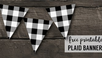 Buffalo Plaid Banner Printable {Lumberjack Party Decor}