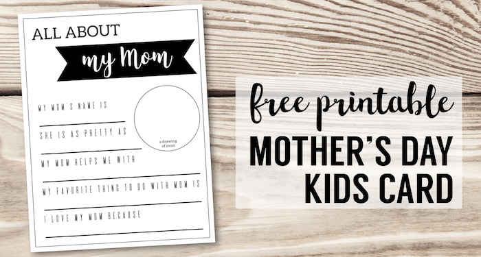 picture regarding All About Mom Printable called Moms Working day Presents for Little ones in direction of Produce Fill in just Playing cards - Paper