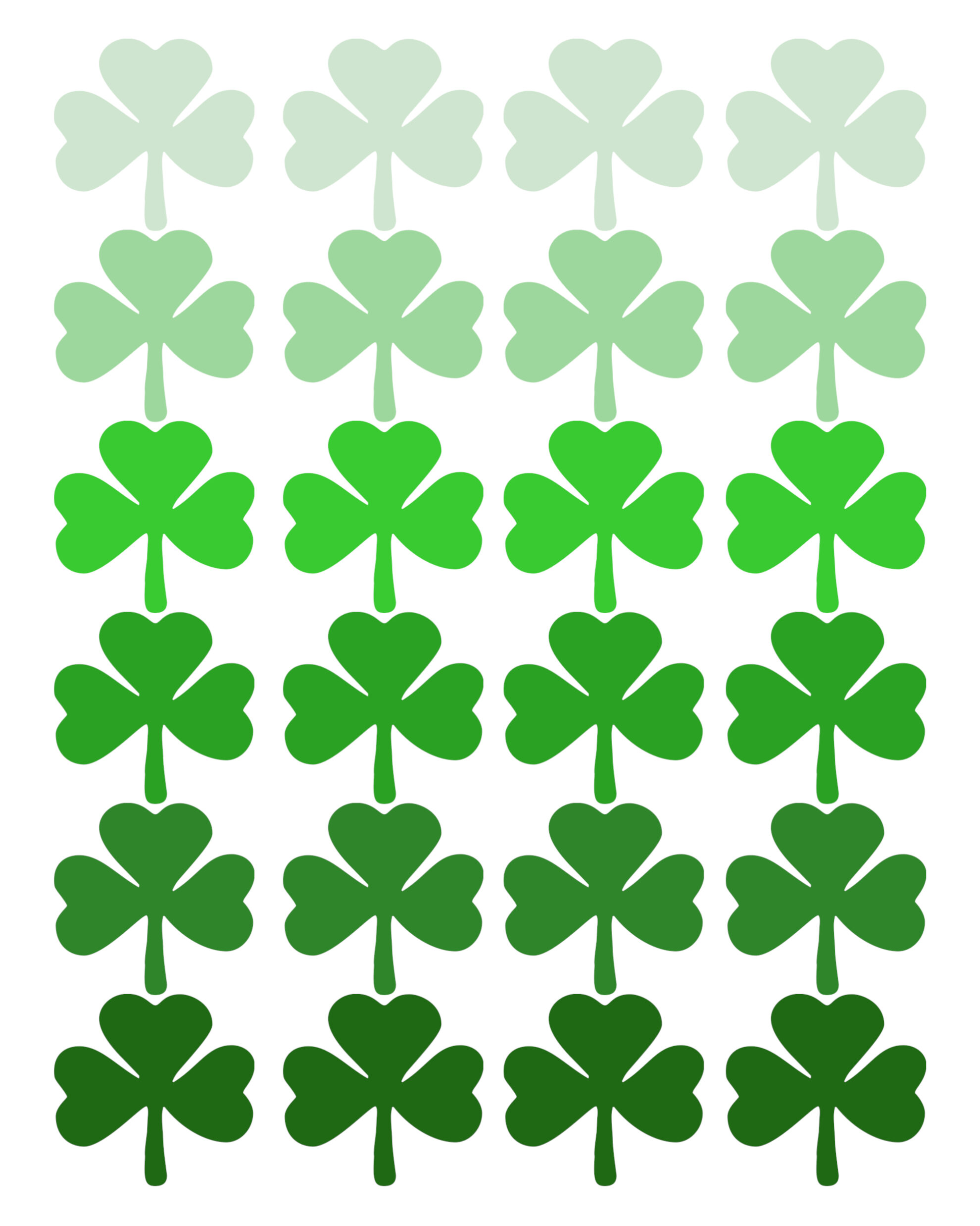 Refreshing image for st patrick's day clover printable