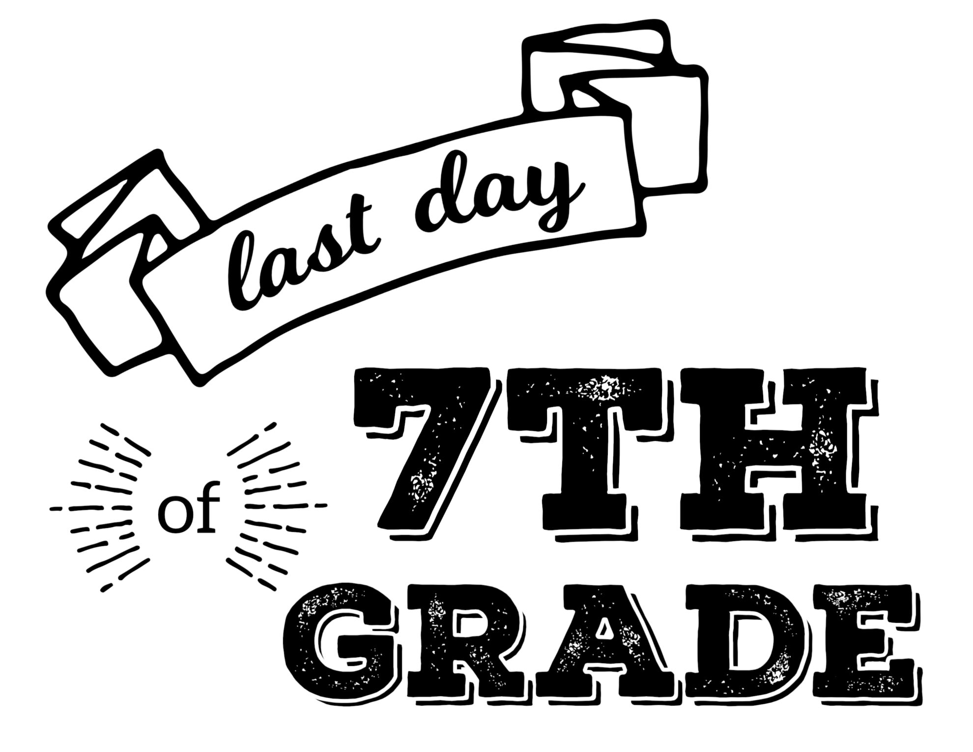 Last Day of School Printable Signs - Paper Trail Design