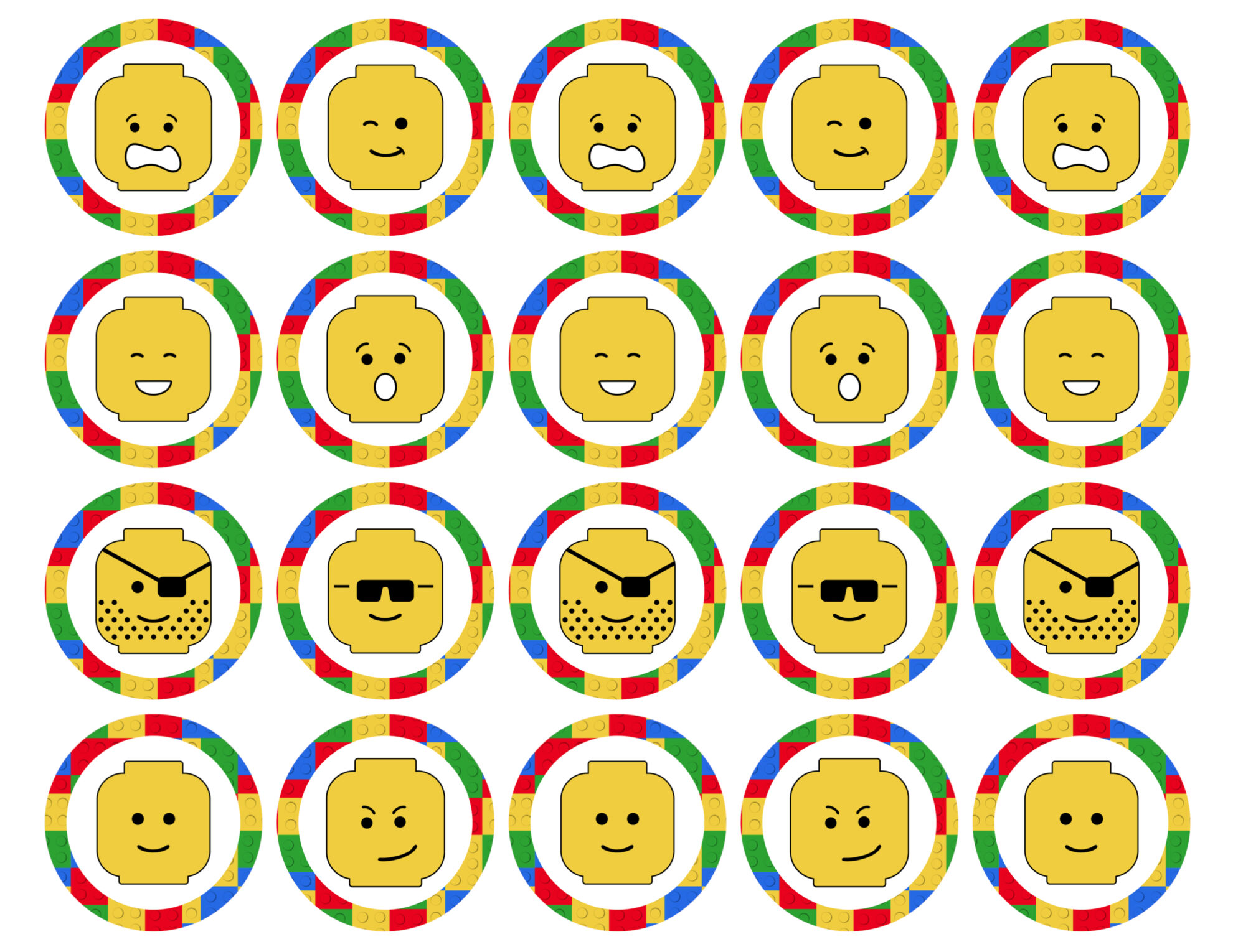 image regarding Lego Faces Printable titled Perfect Lego Birthday Get together Options No cost Printables - Paper