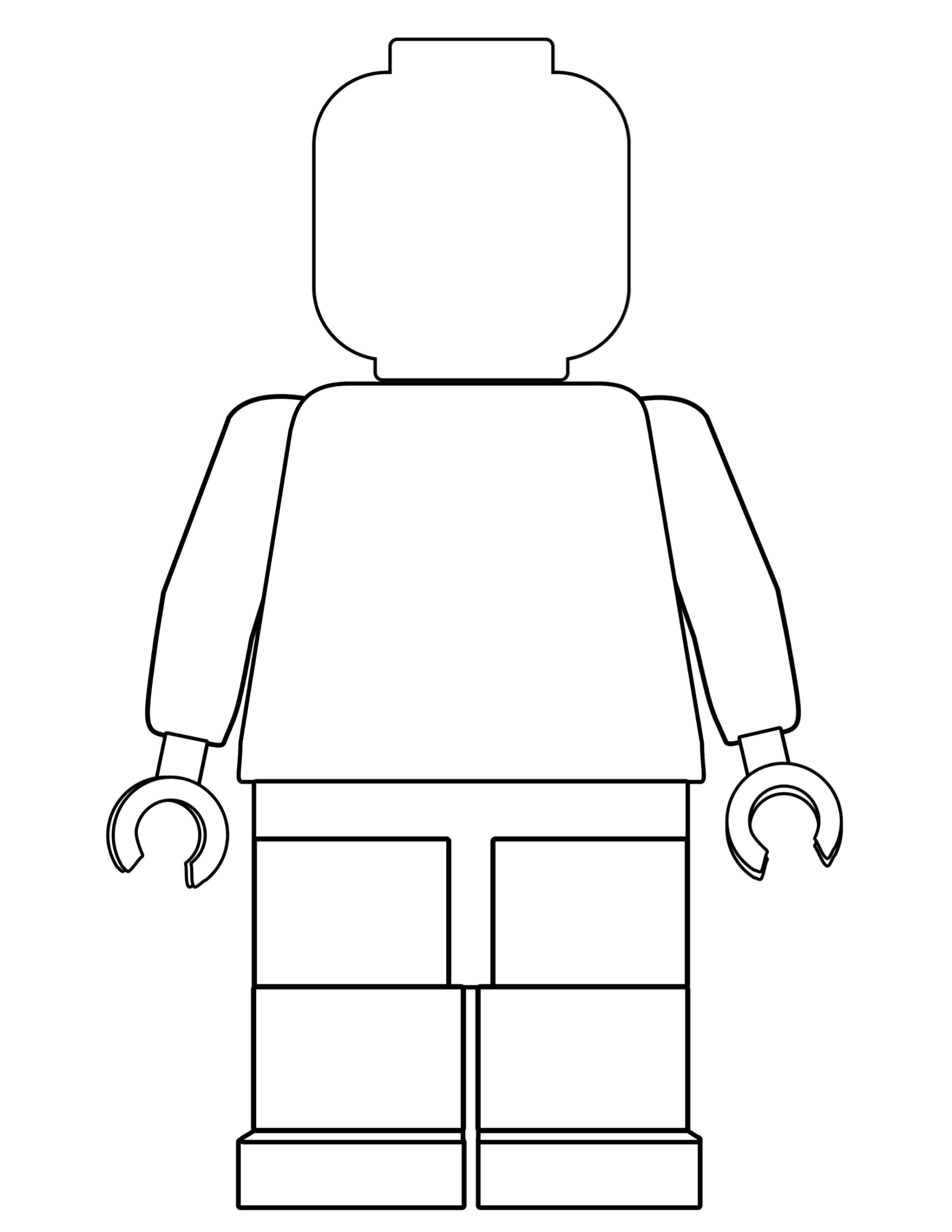 Free Printable Lego Coloring Pages - Paper Trail Design
