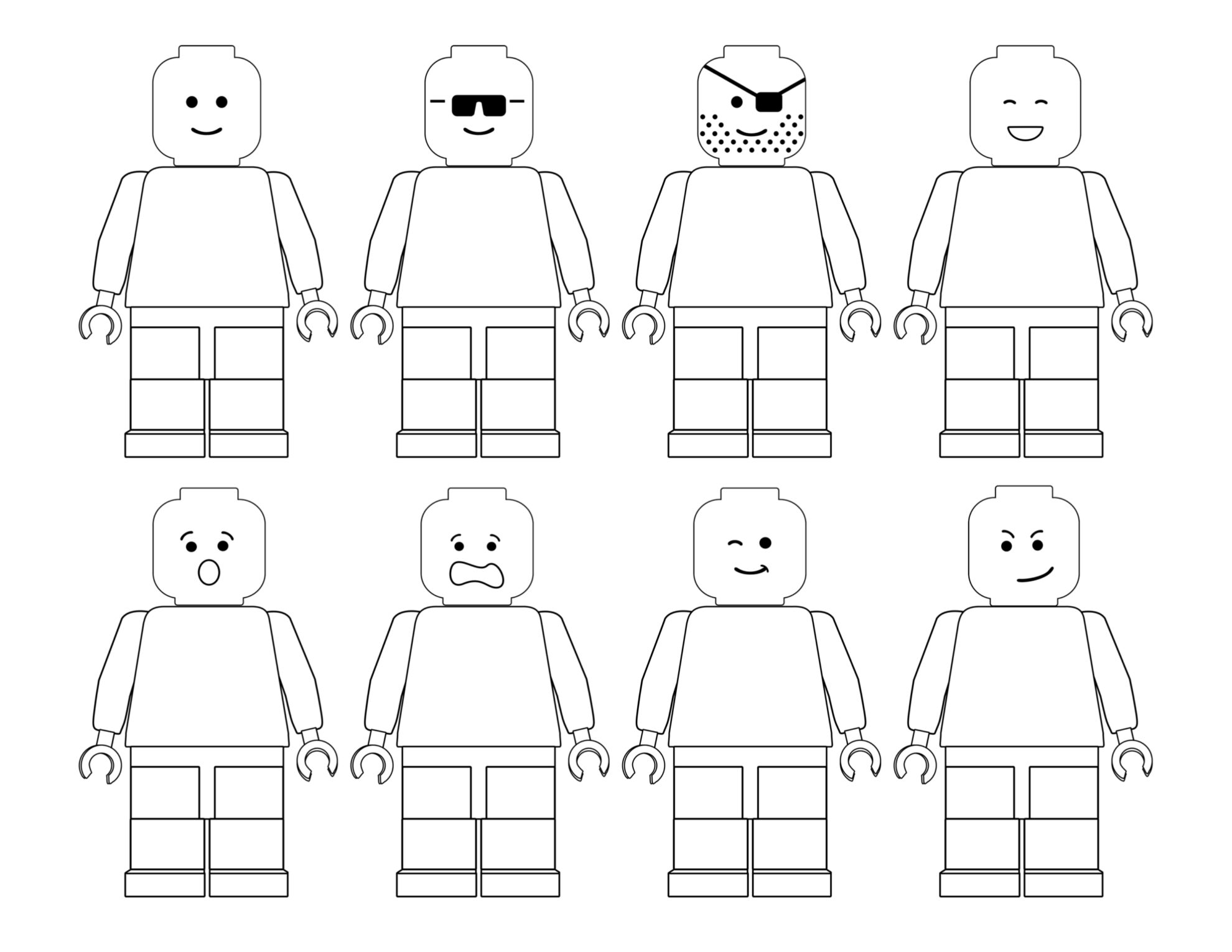 Click The Following Links To Print The Free Printable Lego Coloring Pages