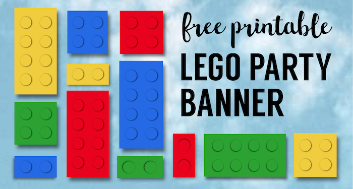 photograph regarding Lego Letters Printable referred to as Lego Banner Lego Occasion Printables - Paper Path Style