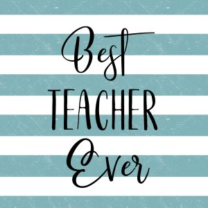 Best Teacher Ever Card Free Printables. Gift Tags for teacher appreciation gifts. Teacher gift ideas for the end of the year. #papertraildesign #freeprintables #teacherappreciationideas #teachergift