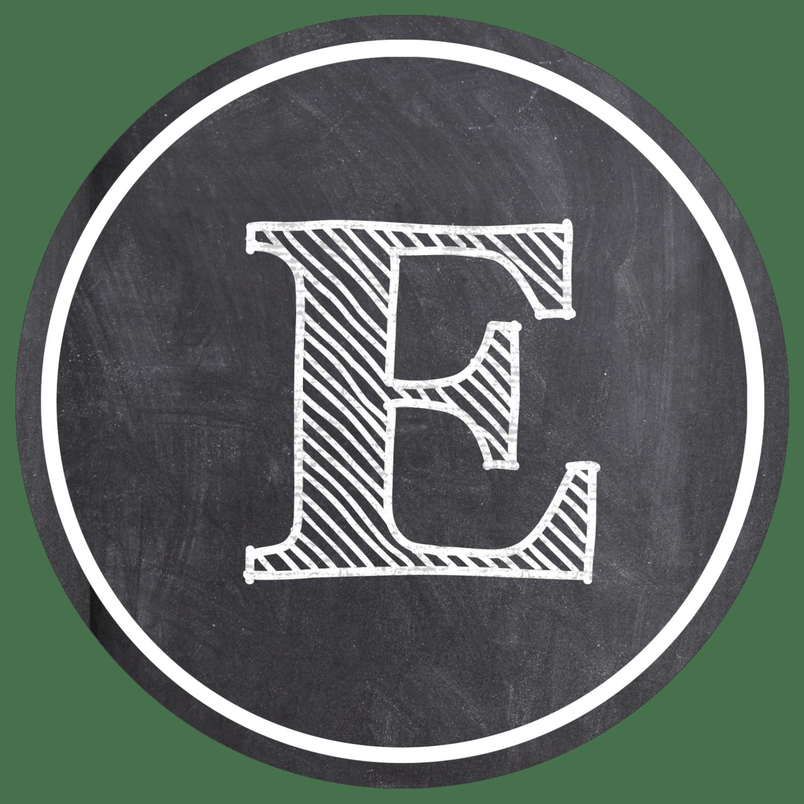 Chalkboard Banner Letters Free Printable Alphabet