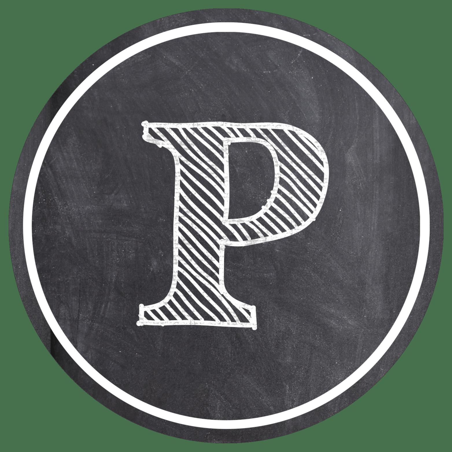 Chalkboard Banner Letters Free Printable Alphabet  Paper Trail Design