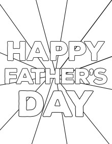 Happy Father's Day Coloring Pages Free Printables. DIY easy Father's Day ideas. Fun present from kids. Best Dad Ever coloring sheet. #papertraildesign #dadsday #fathersdayideas #fathersdaygifts