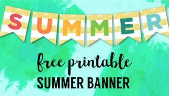Free Printable Summer Banner Flags