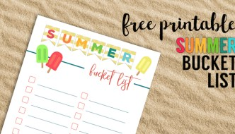 Free Printable Summer Bucket List Ideas Template