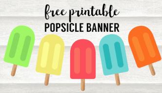 Popsicle Summer Banner Decor Free Printable