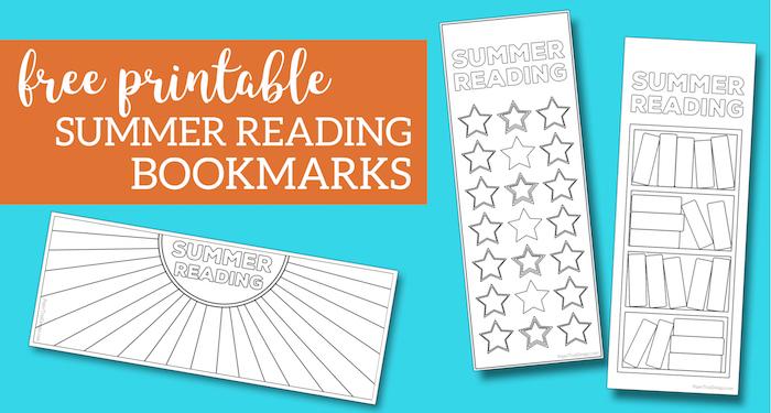 summer reading log bookmark printable tracker