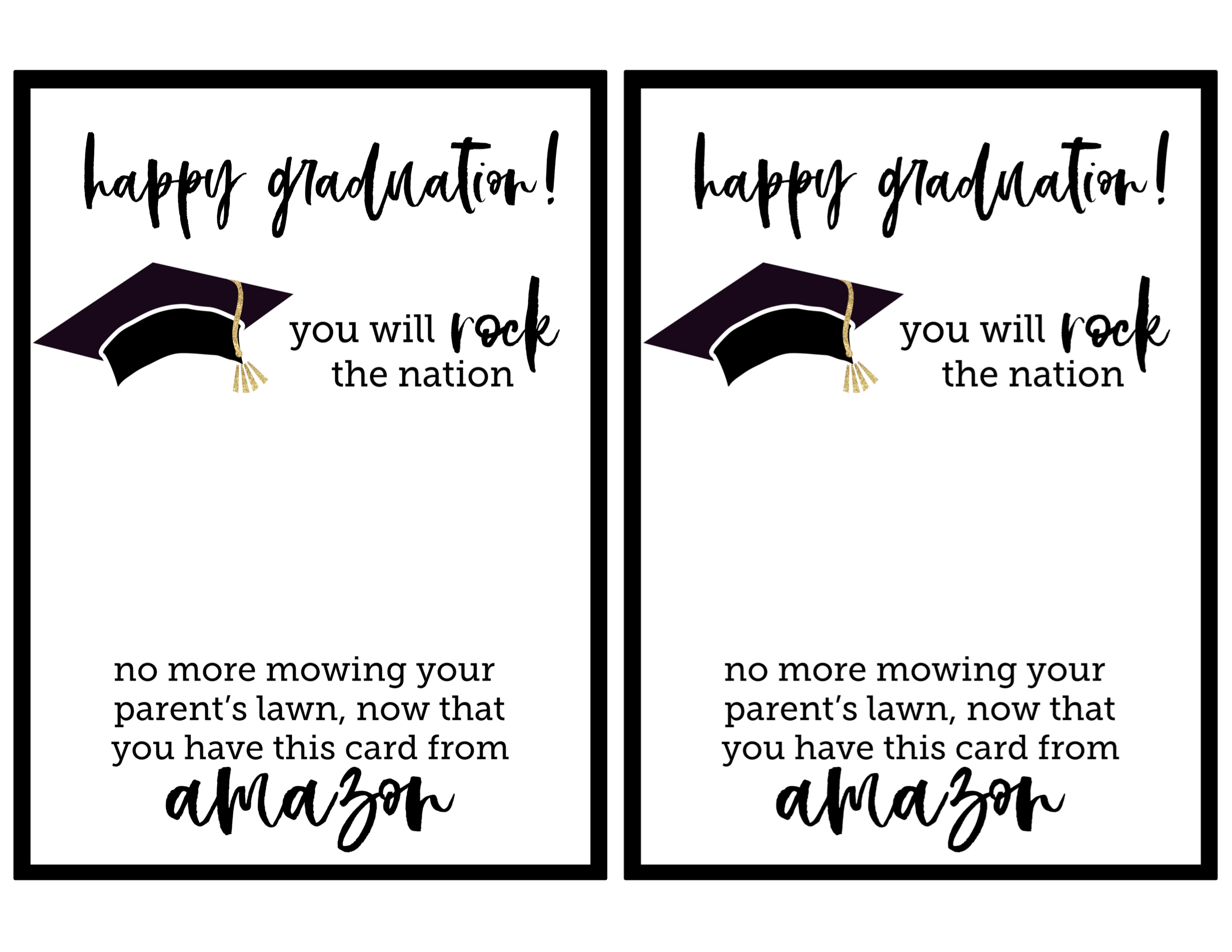 Sassy image intended for free printable graduation card