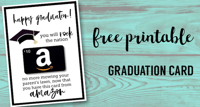 photograph relating to Free Graduation Printable titled Absolutely free Printable Commencement Card - Paper Path Layout