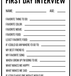 All About Me Printables {Interview Template}   Paper Trail Design [ 2750 x 2125 Pixel ]