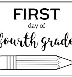 Free Printable First Day of School Sign {Pencil}   Paper Trail Design [ 2125 x 2750 Pixel ]