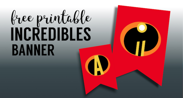 photo regarding Incredibles Logo Printable identify Incredibles Concept Bash Banner Totally free Printable - Paper Path