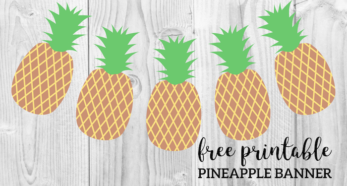 graphic relating to Free Printable Pineapple titled Pineapple Social gathering Banner Cost-free Printable - Paper Path Style