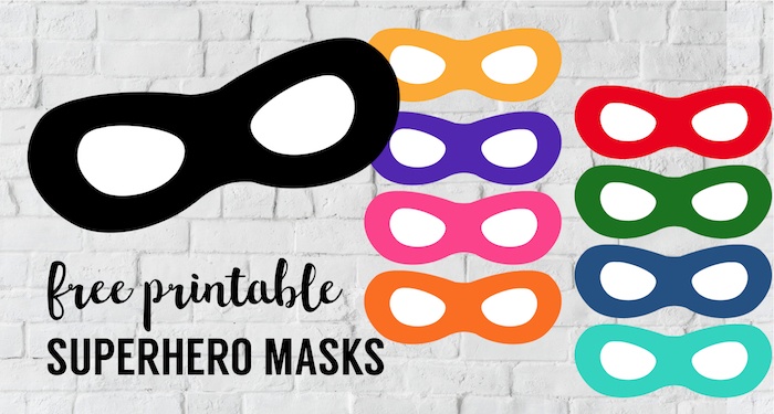 photograph about Free Printable Masks Templates named Incredibles Absolutely free Printable Superhero Masks - Paper Path Style and design