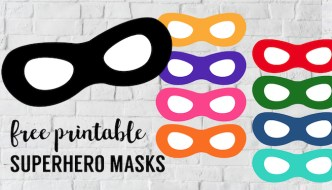 Incredibles Free Printable Superhero Masks