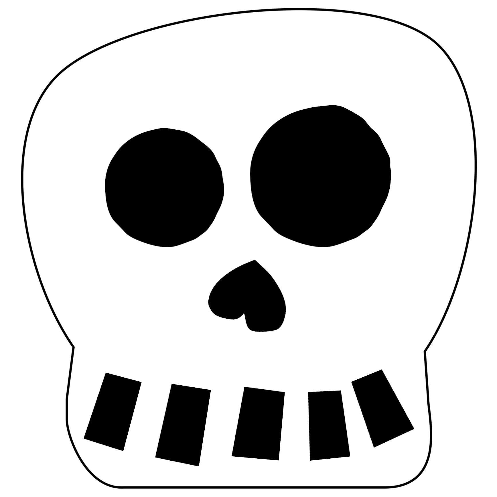 Click The Following Links To Print The Free Printable Halloween Skull Decoration Banner