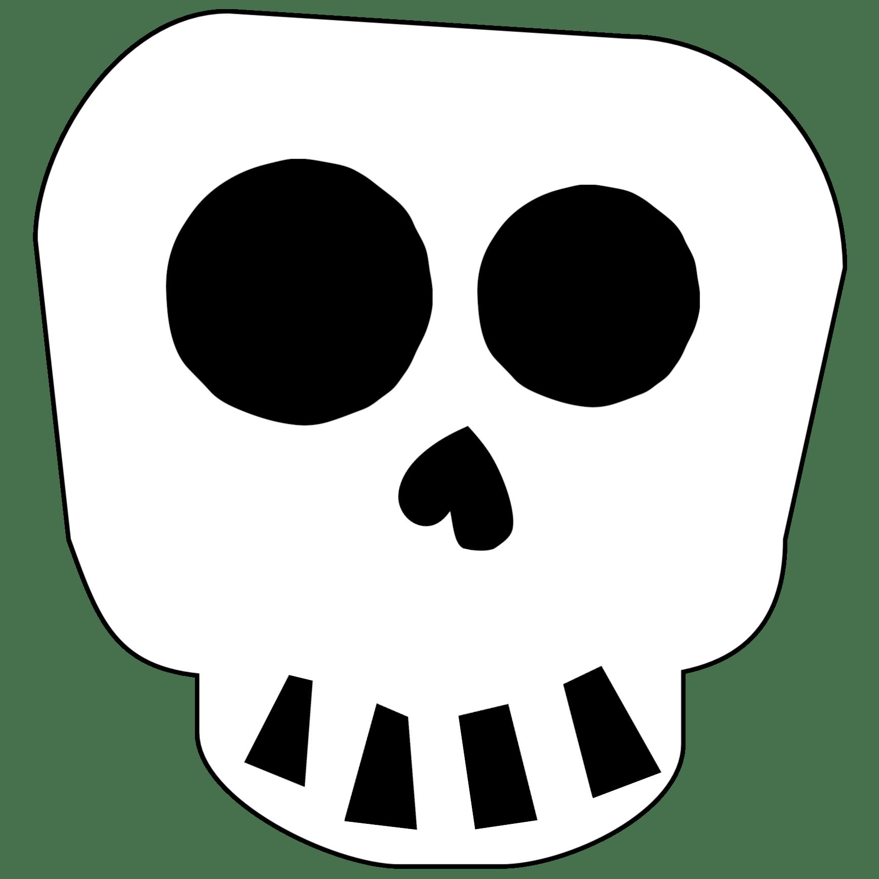 Free Printable Halloween Skull Decoration Banner Paper Trail Design