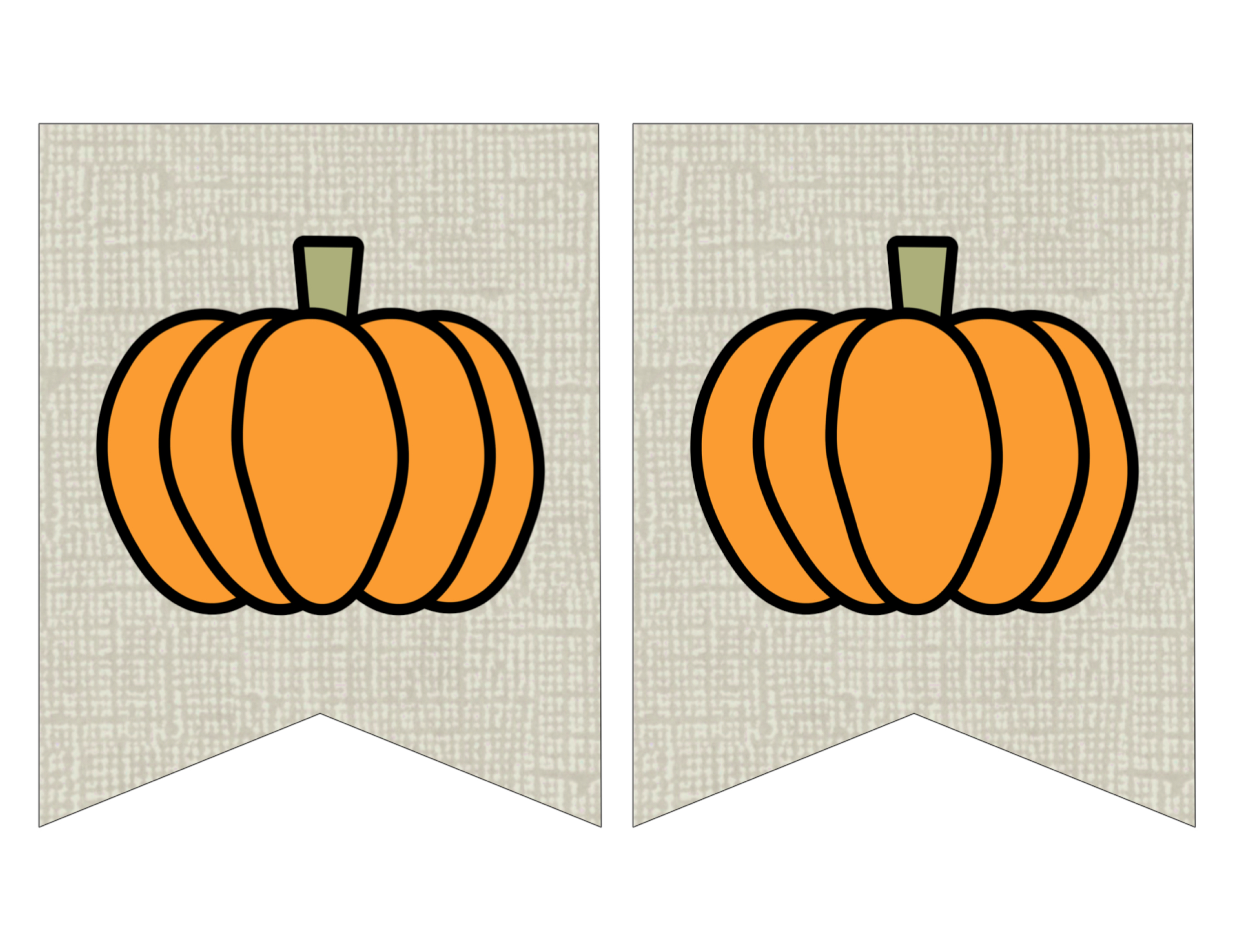 image regarding Printable Fall Decorations identified as Totally free Printable Pumpkin Banner Decor - Paper Path Structure