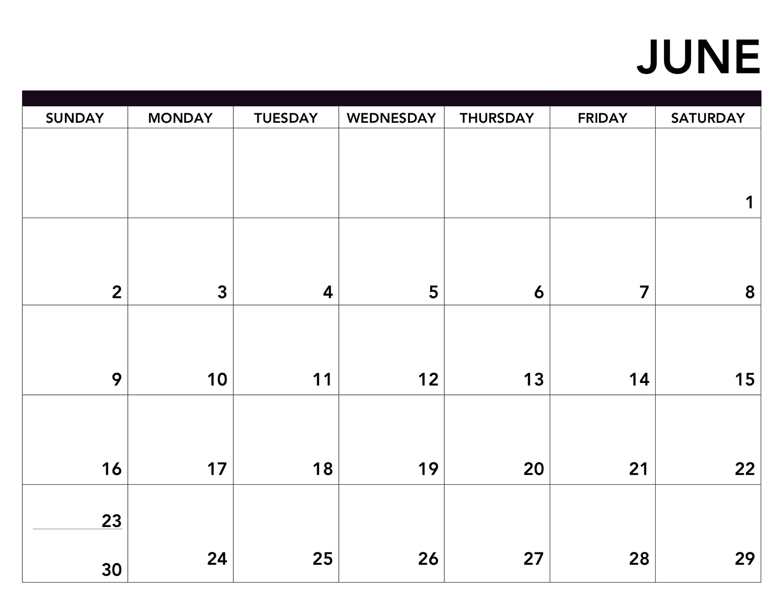 Printable Calendar Free Pages