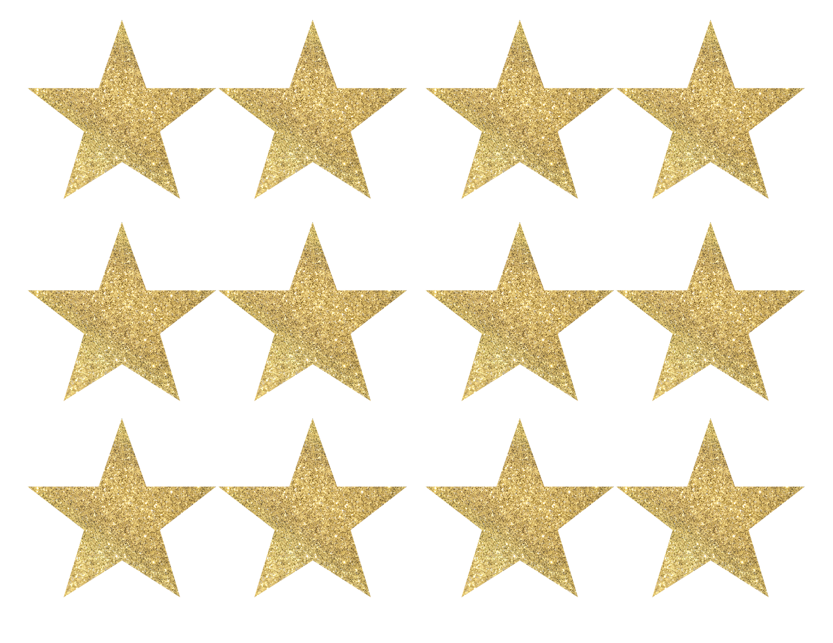 Gold Star Banner Christmas Garland Printable Paper Trail
