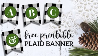 Free Printable Christmas Banner Letters Template