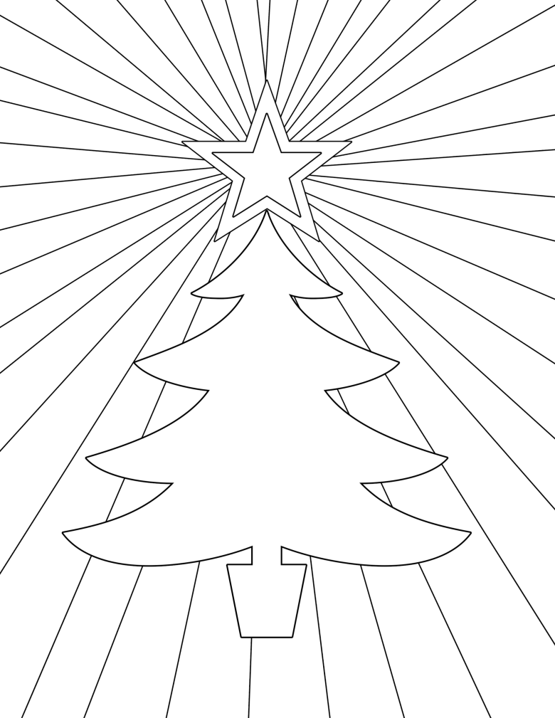 free printable christmas coloring pages - paper trail design