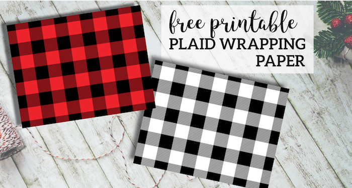 image relating to Printable Birthday Wrapping Paper known as Rustic Buffalo Plaid Wrapping Paper Free of charge Printable - Paper