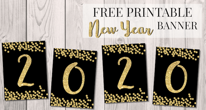 photo about Happy New Years Banner Printable titled Absolutely free Printable Satisfied Fresh 12 months Banner Letters - Paper Path