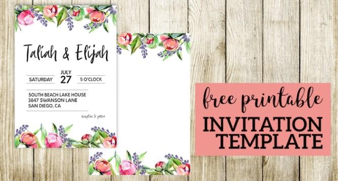Fl Wedding Invitation Template
