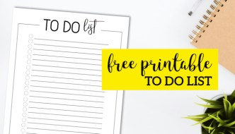 Free Printable To Do Checklist Template. Get organized and keep track of your day and crush your goals with this simple to do list. #papertraildesign #todo #todo list #todochecklist #goals #crushyourgoals #slayyourgoals #organize #organization