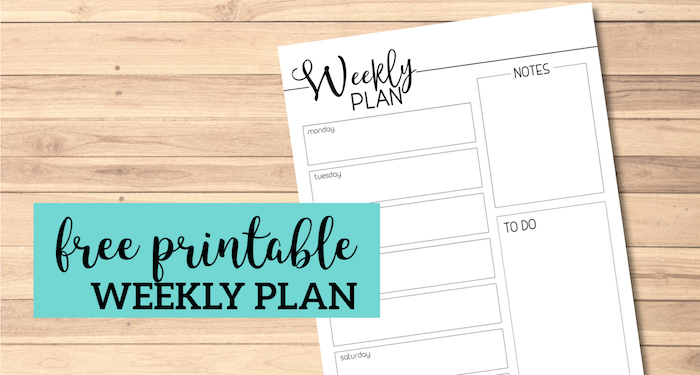 photo relating to Free Printable Home Organizer Notebook known as Weekly Planner Template Totally free Printable - Paper Path Style