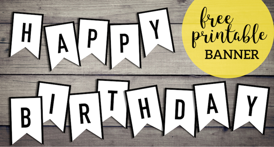 photo regarding Happy Birthday Printable Sign identify Absolutely free Joyful Birthday Banner Printable Indicator - Paper Path Style
