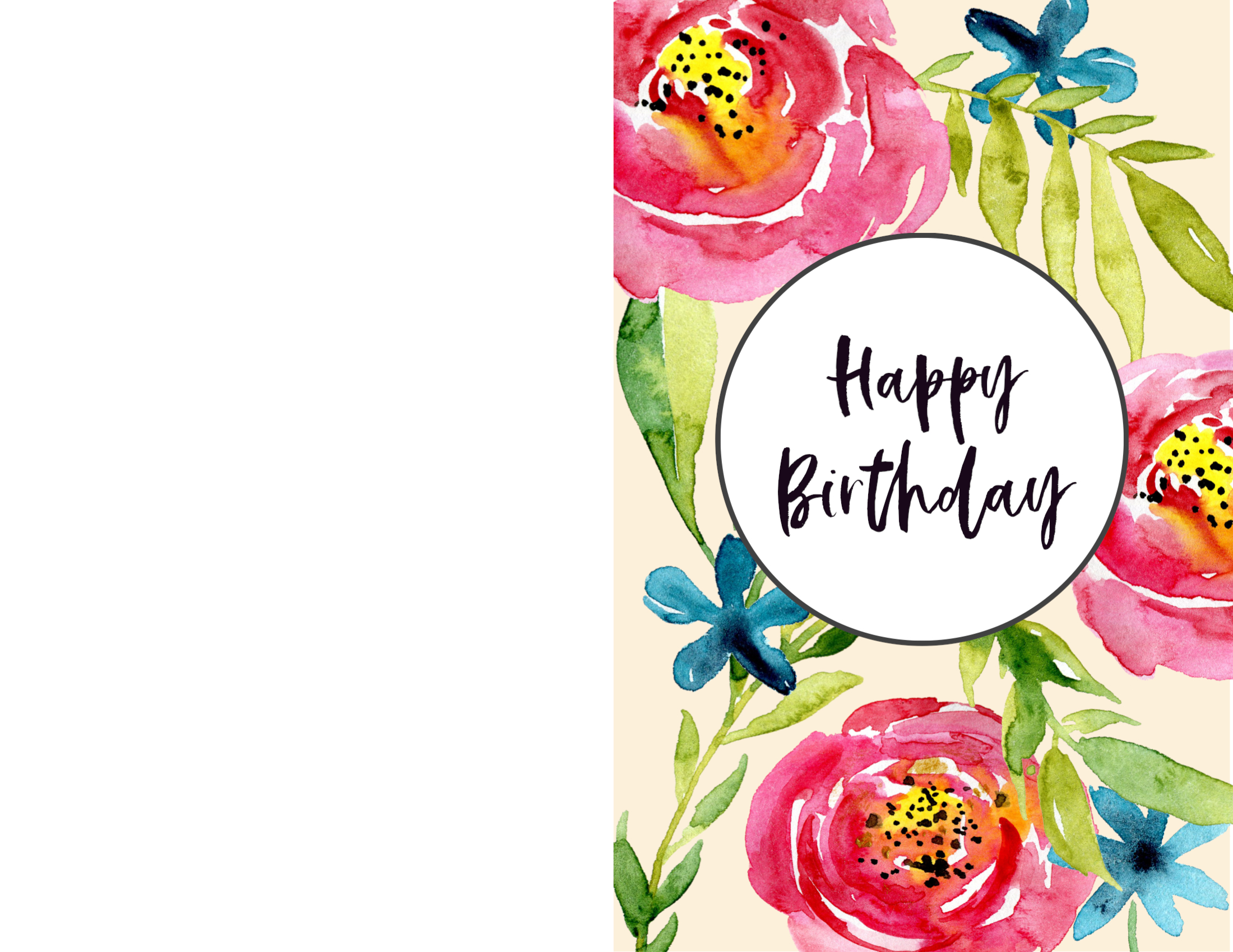 Free Printable Happy Birthday Card Coloring Page