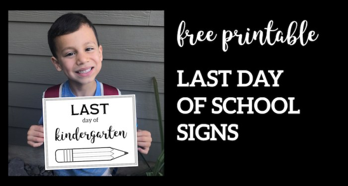 Free Printable Last Day of School Sign {Pencil}. Easy DIY poster for your kids last day of school pictures. Kindergarten though Senior year. #papertraildesign #lastdayofschool #lastdayofschoolsign #lastdayofschoolprintable #lastdayofkindergarten #schoolsoutforsummer #summer #schoolsout