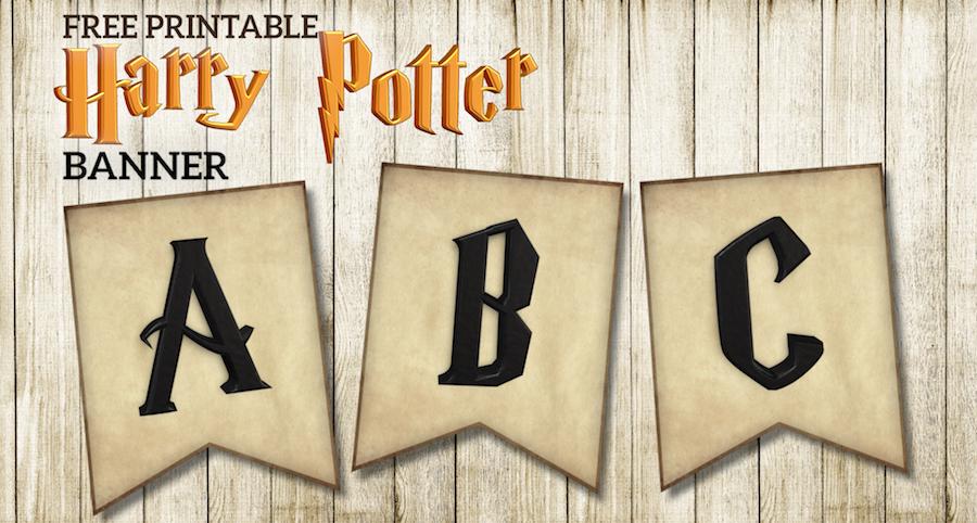 free printable harry potter banner