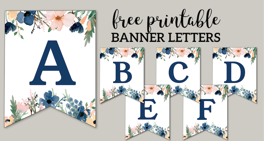photo about I Can't Say I Do Without You Free Printable known as Floral No cost Printable Alphabet Letters Banner - Paper Path