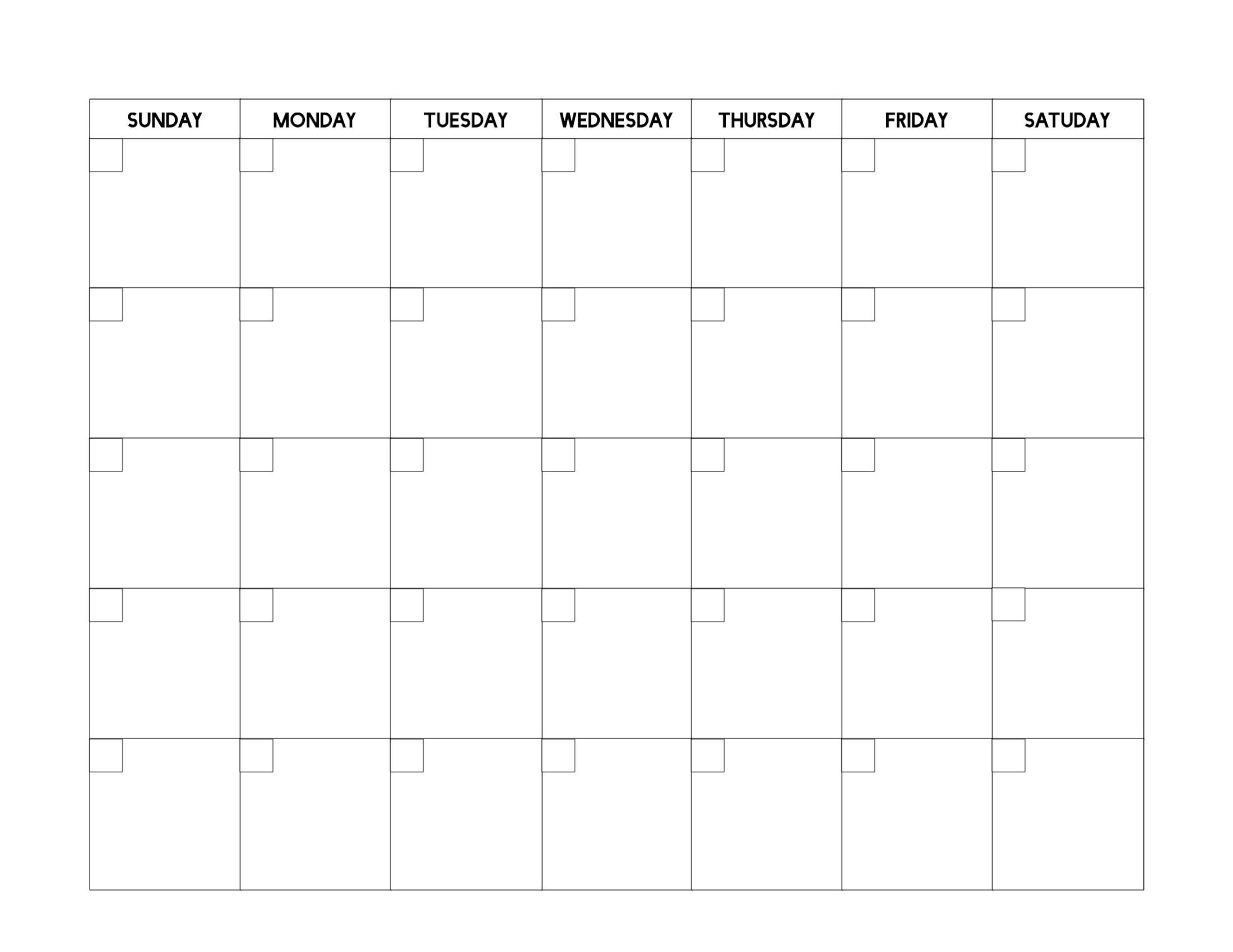 photo about Printable Layout named No cost Printable Blank Calendar Template - Paper Path Style