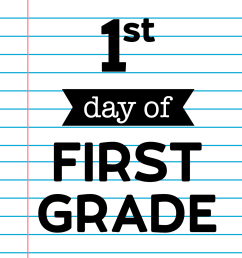 First Day of School Signs {Notebook Paper}   Paper Trail Design [ 2200 x 1700 Pixel ]