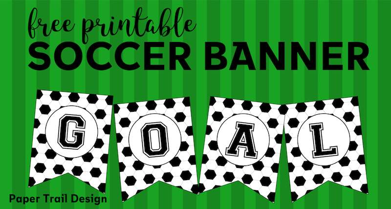 picture regarding Printable Birthday Decorations named Absolutely free Printable Football Banner - Paper Path Style and design