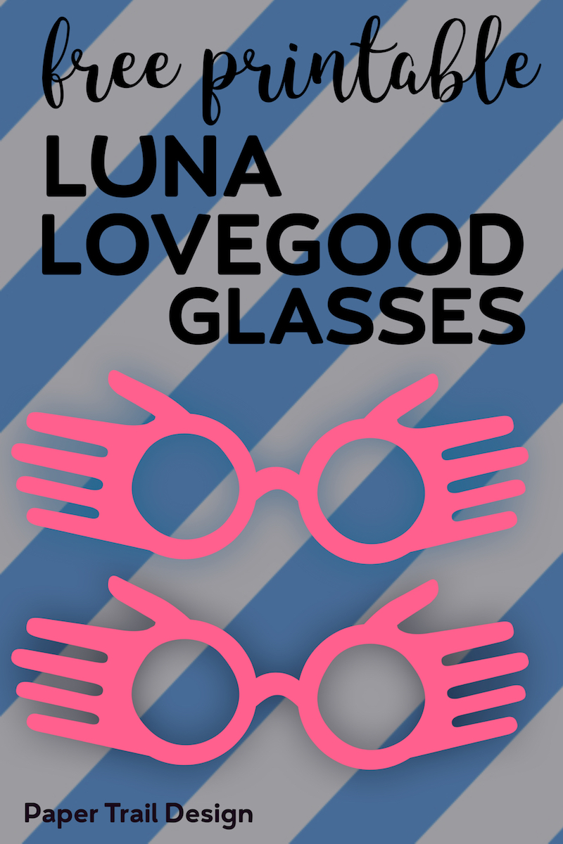 picture regarding Luna Lovegood Glasses Printable referred to as Cost-free Printable Luna Lovegood Gles Template - Paper Path