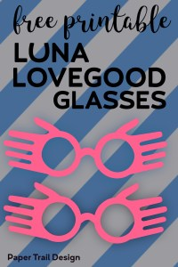 Free Printable Luna Lovegood Glasses Template. Inexpensive Harry Potter cosplay costume idea for Halloween. DIY Luna spectrespecs. #papertraildesign #Potter #potterhead #printablelunaglasses #easylunacostume #easyhalloweencostume #halloweenideas #harrypotterideas #harrypotterprintables