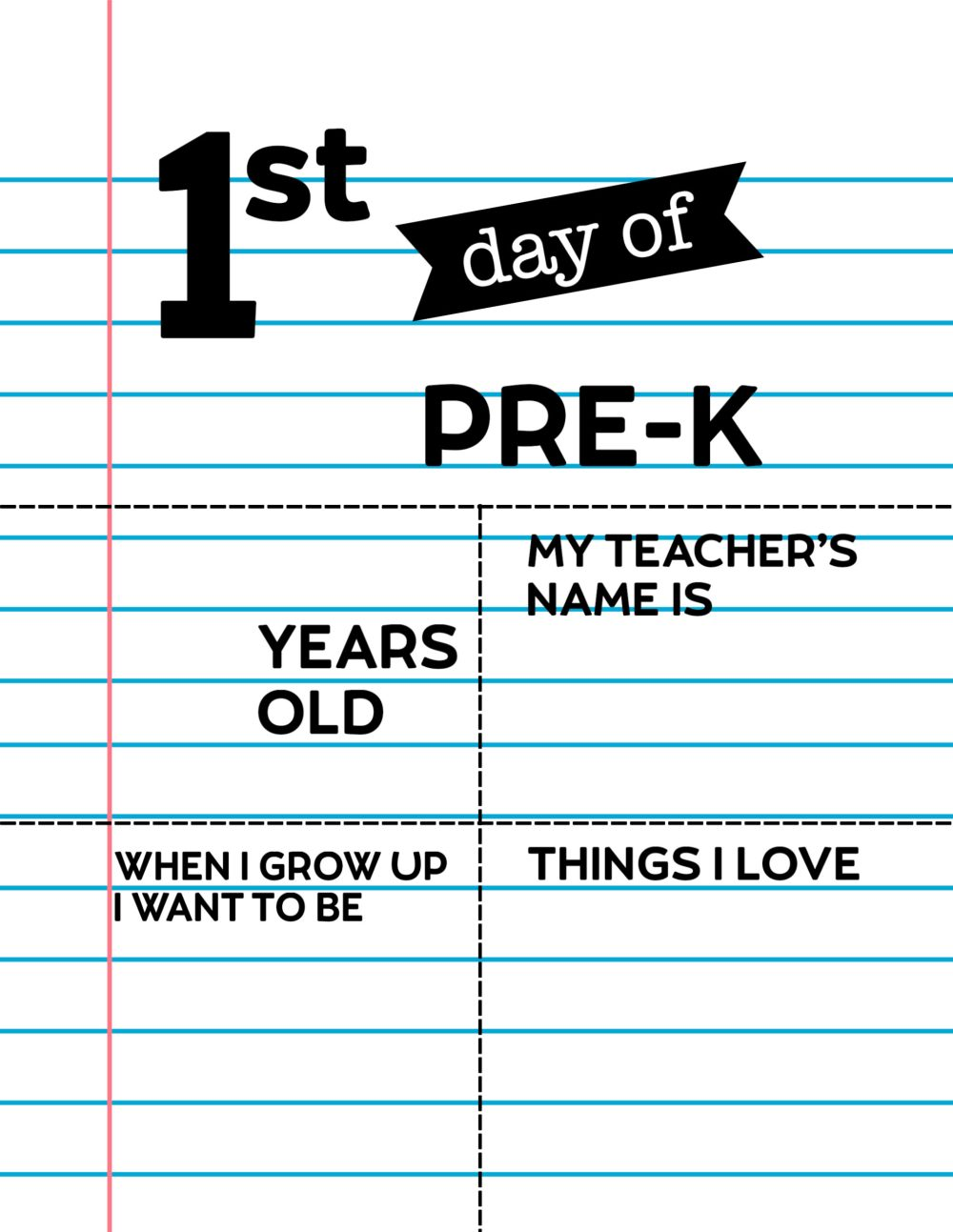 medium resolution of Editable First Day of School Signs - Notebook Paper   Paper Trail Design