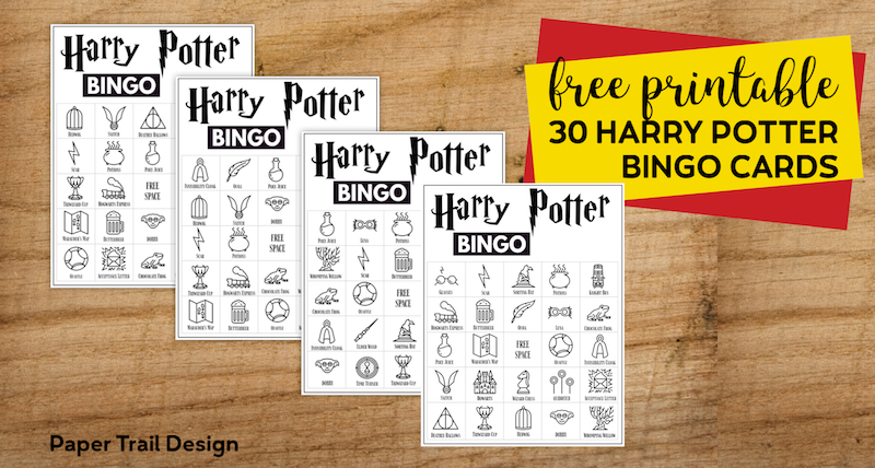 image regarding Printable Harry Potter called Absolutely free Printable Harry Potter Bingo Video game - Paper Path Style