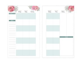 Right student happy planner page Monday-Sunday with upcoming tests, notes, and to do space in mini size.