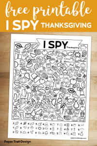 I spy game with line icons to find with text overlay-free printable I Spy Thanksgiving